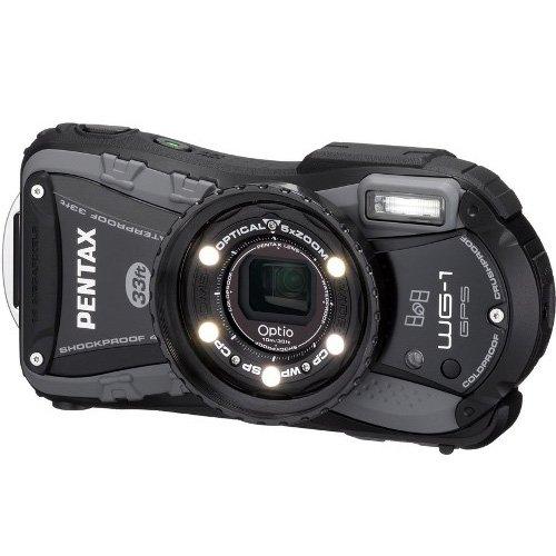 PENTAX 防水デジタルカメラOptio WG-1GPS グレー GPS 約1400万画素 広角28mm 光学5倍 CALSモード 10m防水 超解像  1cmマクロ OPTIOWG-1GPSGY
