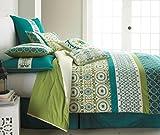 Pacific Coast Textiles 8-Piece Arden Comforter Set, Queen, Jade