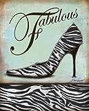 Zebra Shoe Art Poster Print by Todd Williams, 11x14 Art Poster Print by Todd Williams, 11x14