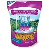 Natural Balance Sweet Potato and Venison Dog Treats, 8-Ounce Bag