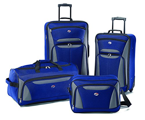American Tourister Fieldbrook II 4 Piece Set Boarding Bag, Blue/Grey, One Size image