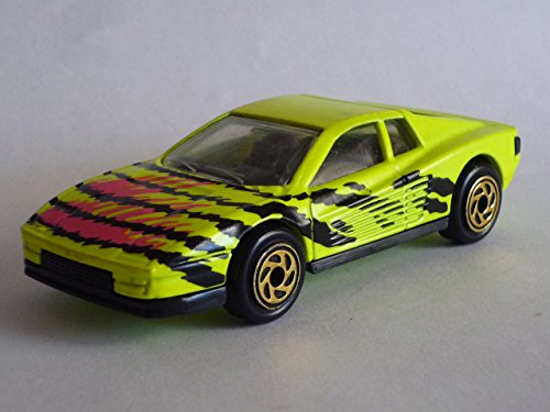 Matchbox 1993 release of Ferrari Testarossa neon yellow #75 1986 by Matchbox - 1