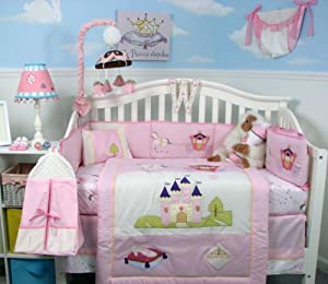 Soho boutique royal princess baby crib bedding set 10 pcs amazon co