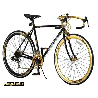 Raychell+(レイチェルプラス) 700Cクロモリフレームシマノ14段変速ロードバイク[フレームサイズ520mm・コイルワイヤー錠/前後シリコンLEDライト付属] R+713 GolDragon (520)