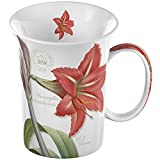Creative Tops 1-Piece Fine Bone China Royal Botanic Gardens Kew Amaryllis Mug in a Box, Red