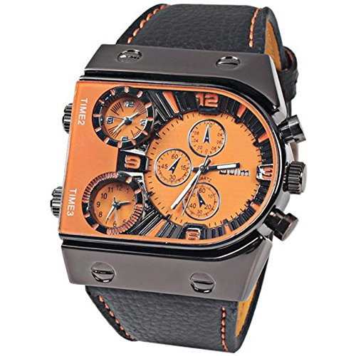 oulm-brand-three-time-zone-mens-quartz-military-wrist-watches-with-function-faux-leather-band-orange