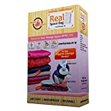 Real Space Bag Vacuum Storage Bags for Clothes (Medium Size - 60 X 80 CM) - Set of 3 Bags