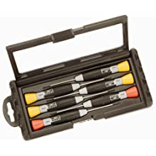 BAHCO 706-2 6 Piece Precision Screwdriver Set 1 Millimeter to 1.8 Millimeter Slotted and #0 to #1 Ph