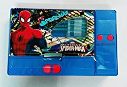 Kiku Gadget Pencil Box Best Quality--Jumbo Pencil Box---Kids Multi Purpose Pencil Box (Spiderman)