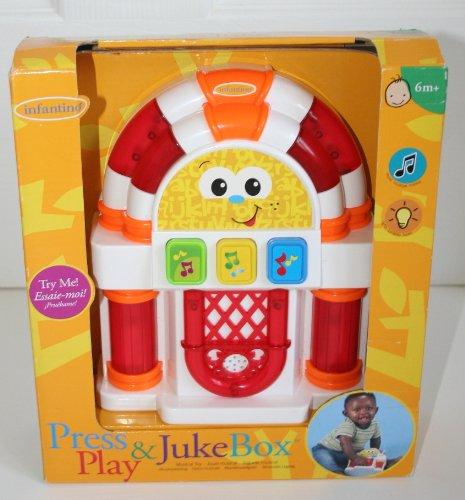 Infantino Press & Play Juke Box Musical Toy - 1
