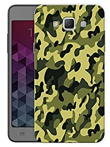 "Humor Gang Camouflage Army Pattern Printed Designer Mobile Back Cover For ""Samsung Galaxy A7"" (3D, Matte Finish, Premium Quality, Protective Snap On Slim Hard Phone Case, Multi Color)"