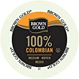 Brown Gold 100% Colombian Coffee Capsules, 48-Count Package compatible with Keurig K-Cup Brewers