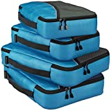 Packing Cubes For Travel Luggage Suitcase And Bags Organization - 4pc Set Large And Medium Organizers Pouches For Protection And Compression Of Multi Clothes Shoes And Accessories - Save Time And Stress On Your Journey - Risk Free 100% Satisfaction Guarantee!