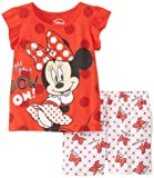 Disney Baby Baby-Girls Infant Disney's Minnie Mouse Red Short Set