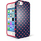 iPhone5s Phone Case for girls, Akna Glamour Series [Flexible TPU]*[High Impact]*[Retro Pattern] Soft Back Case for iPhone 5 5S [Vintage Polka Dots](U.S)