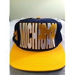 Michigan Wolverines Vintage Block-Logo Snapback Hat by Logo 7