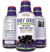 Doctor Formulated: Ultra-Premium Liquid Multivitamin Superfoods (32oz Glass Bottle for Purity) w/ Organic Ingredients for Better Health, More Energy, Migraine & Arthritis Relief, w/ Free eBook