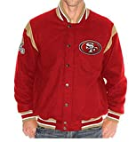 NFL San Francisco 49ers Two Minute Drill Varsity Jacket with Leather Trim ~ XL