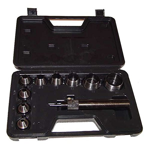 Neiko Interchangeable 10-Piece Hollow Punch Set with Adjustable Center Pin
