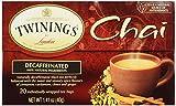 Twinings Chai Decaffeinated Tea Bags -- 20 Tea Bags - Pack of 1