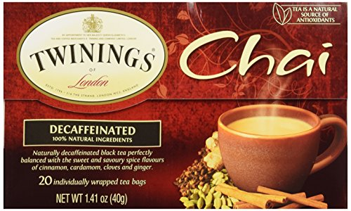 Twinings Chai Decaffeinated Tea Bags -- 20 Tea Bags