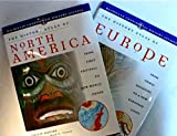 img - for Bundle of 2: The History Atlas of North America. From the First Footfall to New World Order,1998. The History Atlas of Europe: From Tribal Societies to a New European Unity, 1998 Macmillan Continental History book / textbook / text book