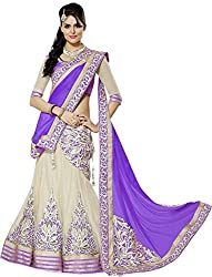 Apka Apna Fashion Women's Net Lehenga Choli (aaf5_Light Blue_Free Size)