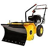 【セット販売品】 HAIGE 除雪機 家庭用 小型 雪掃き機 スノーブレード付き 除雪幅62cm 5馬力 163cc 4サイクル エンジン 自走式 HG-SSG5562-00