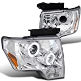 Ford F150 Chrome Halo LED DRL Projector Headlights Pair