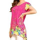 Imixcity Women Floral Blouse Chiffon Shirt Loose Tops