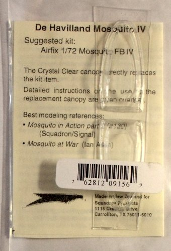 Squadron Products DH Mosquito VI Vacuform Canopy