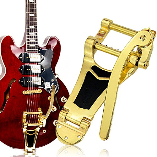 Chinatera Gold Plating Tremolo Vibrato Bridge Tailpiece Hollow body Archtop  for Les Paul Guitar