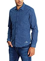 Pepe Jeans London Camisa Hombre Ferrer (Azul Oscuro)