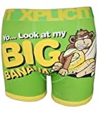 Mens Xplicit Boxers Banana Green XL