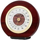 エンペックス気象計 温度湿度計 カーサー温湿度計 置き用 日本製 ブラウン TM-724