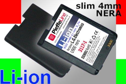 Batteria per LG ELECTRONICS U960 NERA da 950 MAH A LITIO MODELLO SLIM