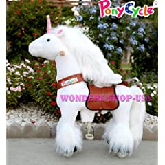 Buy New Ponycycle Pony Cycle Ride On Horse No Need Battery No Electric Just Walking Horse WHITE UNICORN... by Pony Cycle Ponycycle