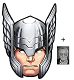 Mask Pack - Thor from Marvel's The Avengers Single Card Party Face Mask includes 6x4 inch (15cm x 10cm) Star Photo