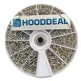 HOODDEAL 1000Pcs Screw & Nut Assortment Kit Repair Tool For Eyeglasses Cell Phone