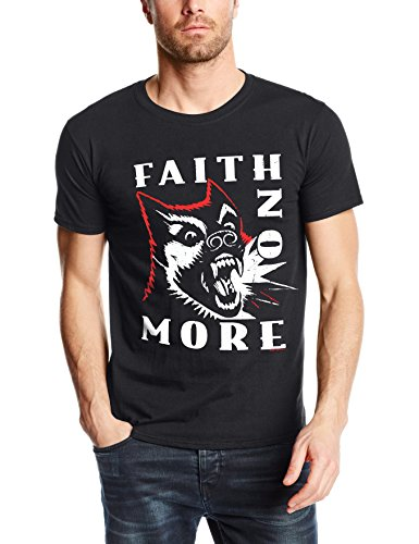 CID FAITH NO MORE - VINTAGE DOG-T-shirt  Uomo    nero Large