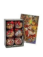 Decoracion Navideña Set Colgante decorativo 6 Uds. Árbol Navidad Papá Noel Memory
