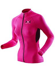 X-BIONIC MAILLOT M/L FULL ZIP BIKE THE TRICK EVO MUJER ROSA/BLANCO
