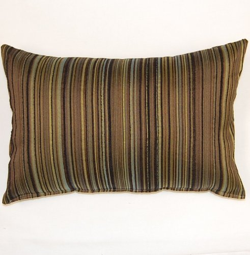 Dakotah 12.5 by 19-Inch Barcodes Knife Edge Pillow, Olive, Set of 2