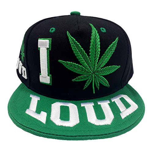 I-Love-Marijuana-Loud-Embroidered-Two-Tone-Snapback-Cap-Hat
