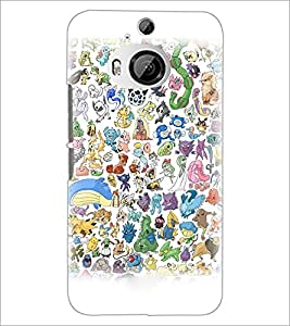 PrintDhaba Cartoon D-3827 Back Case Cover for HTC ONE M9 PLUS (Multi-Coloured)