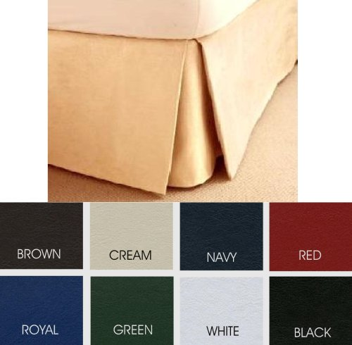 KING SIZE FAUX LEATHER BOX-PLEATED PLATFORM VALANCE.