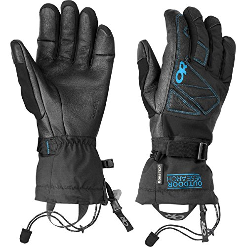 Outdoor Research Northback Sensor Gloves, Black/Hydro, Medium