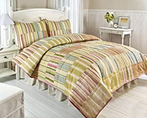 Hedaya Home Fashions Cabana Stripe Full/Queen Quilt Set