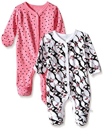 Rosie Pope Baby Newborn Baby Girl's 2 Pack Coveralls, Azalea Pink, 3-6 Months