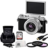 Panasonic DMC-GF7KK Compact System Camera (DSLM) with 12-32mm Kit Lens (Black Silver) + 32GB Bundle 5PC Accessory Kit. Includes SanDisk Ultra 32GB Class 10 SDHC Memory Card (SDSDUN-032G-G46) + 3 Piece Filter Kit (UV-CPL-FLD) + Micro HDMI Cable + Carrying Case + Microfiber Cleaning Cloth